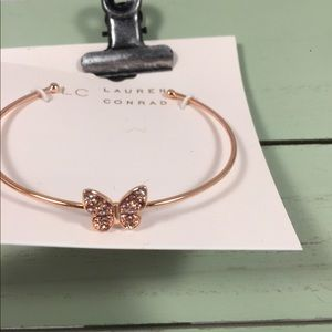 🆕 LC Lauren Conrad Gold Bracelet with Butterfly
